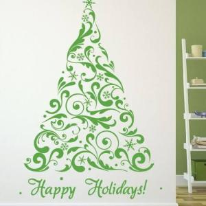 Christmas Tree Vinyl Sticker