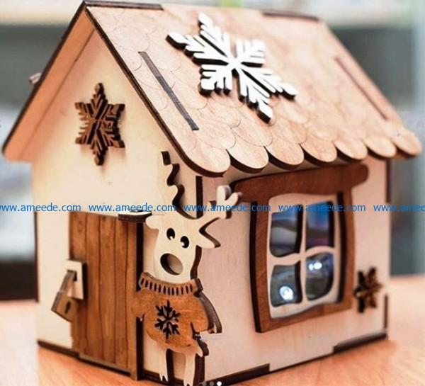 Elf House Wood Reindeer