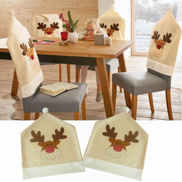 Happy Reindeer Chair Cover