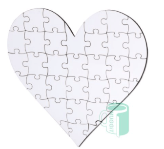 Wood Heart Puzzle 35pc