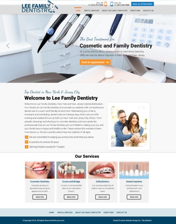 Family Dental Practice Website Design