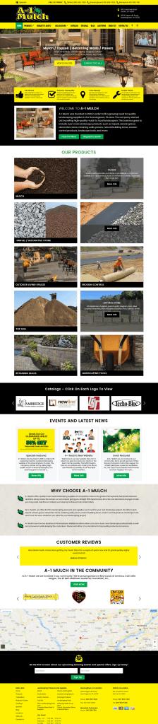 Custom lanscaper website design