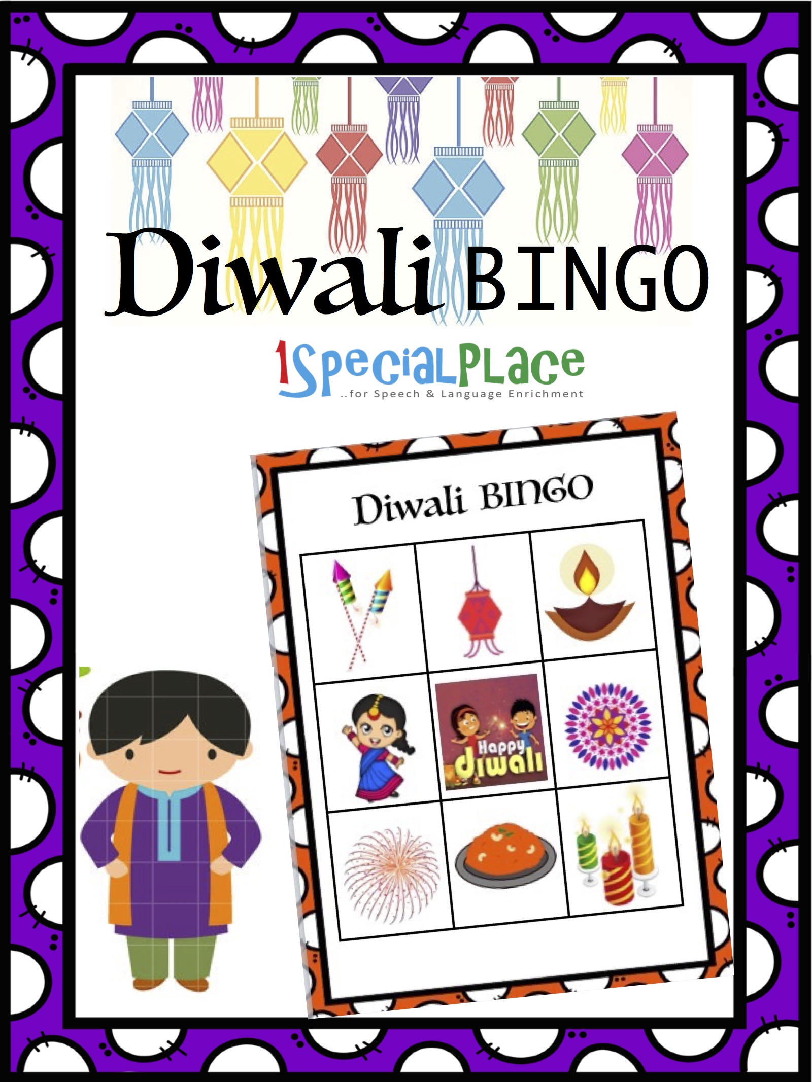 Diwali Bingo Speech Worksheets