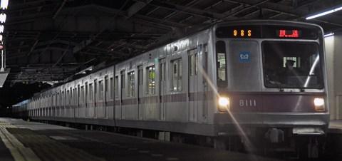【メトロ】8000系8111F新木場CR入場