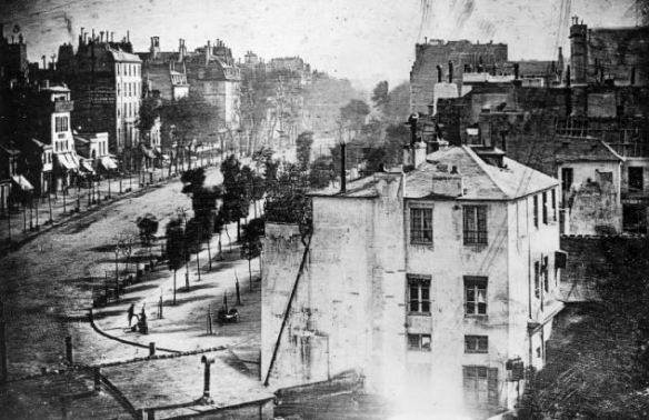 Boulevard du Temple, Paris, Louis Daguerre, 1838