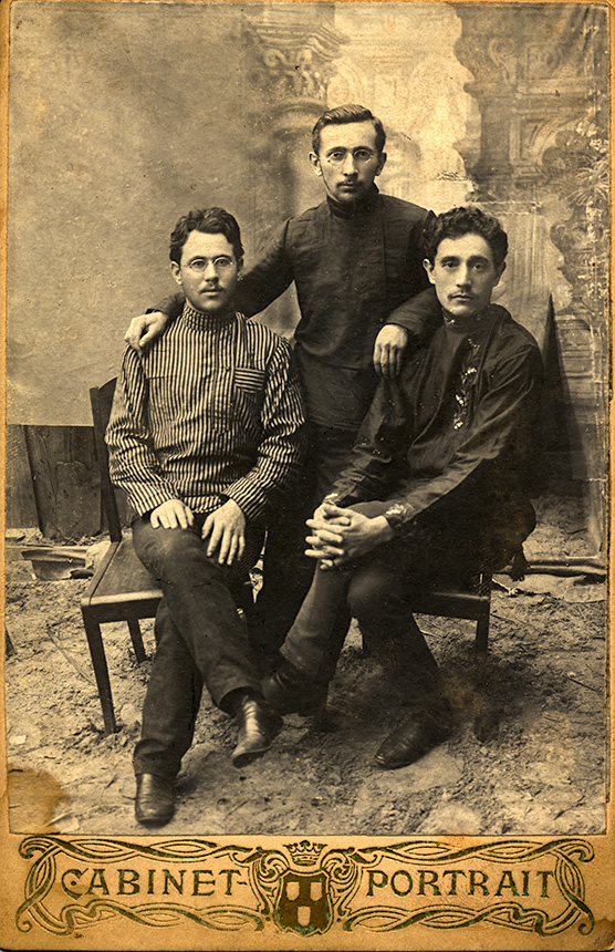 Zalman Dinin is, I believe, the man on the right. The other men are not identified.