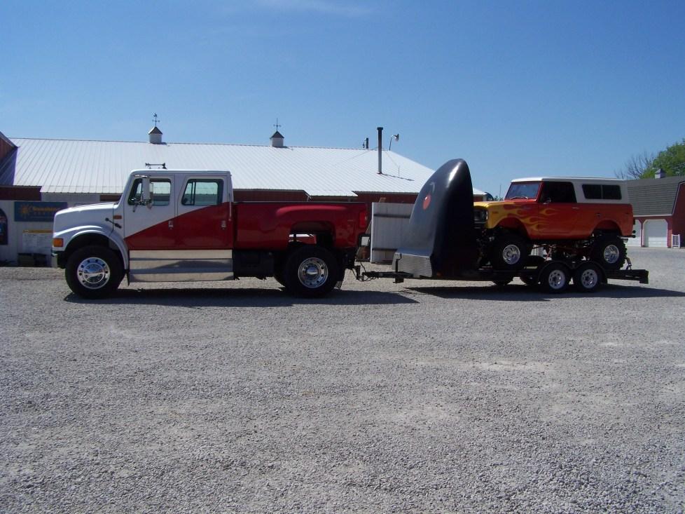 full side view of truck and trailer- Ke-mo-sah-bee
