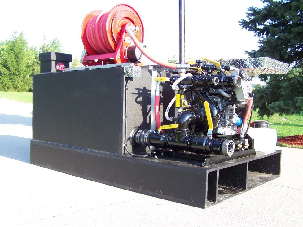 ground level rear side pump view- Perrington