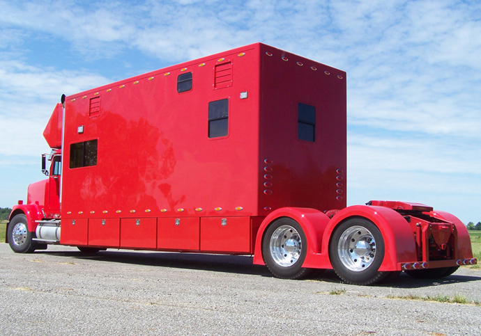 rear angle of driver side- custom hauler