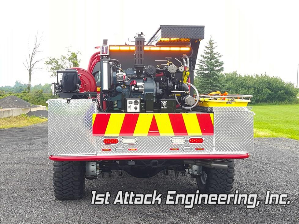pump rear view- Lafayette Volunteer Fire Department