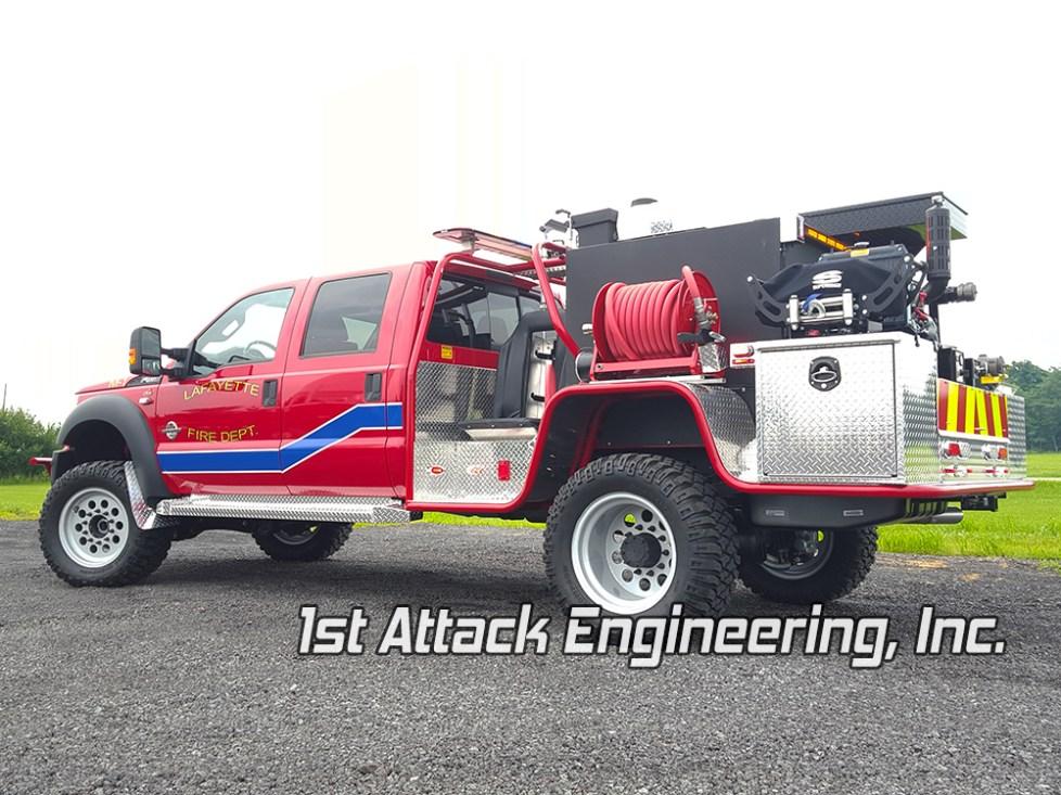 Driver rear corner- Lafayette Volunteer Fire Department
