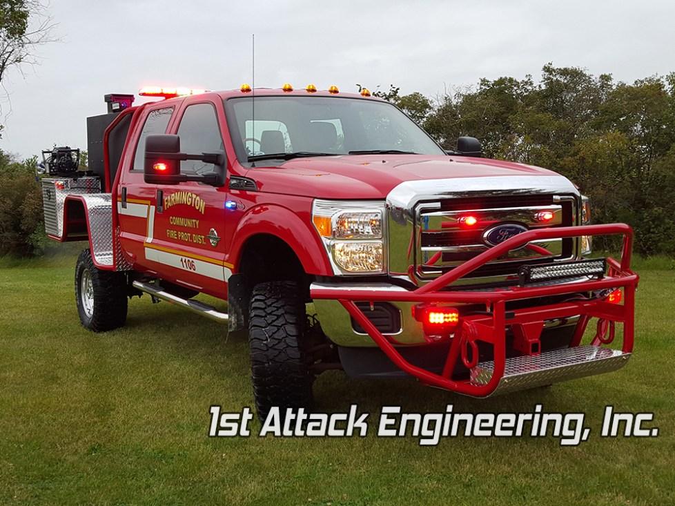 Farmington Community Fire Protection District- custom brush guard