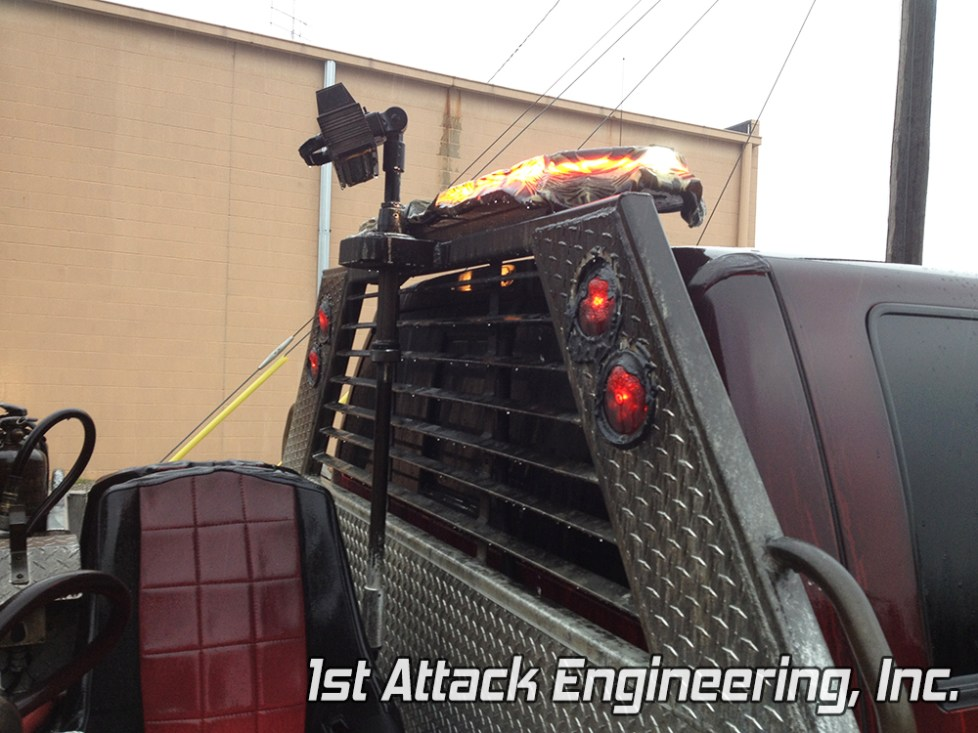 Light bar still works after the truck burned Florence Township Fire Department