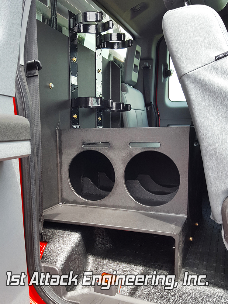 Wheatfield Fire Department plastic air tank storage