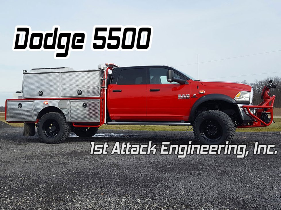 Dodge 5500 with dually replacement super single rims by 1st Attack