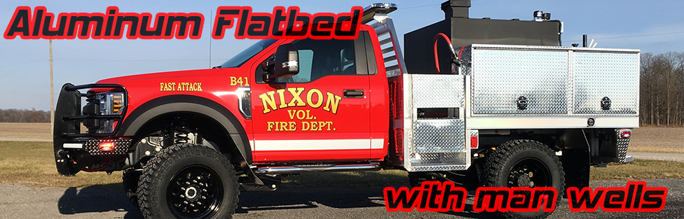 Nixon Fire Department Aluminum Flatbed with Manwells Brush Truck