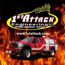 1st Attack Engineering Inc. Logo and Co-Poly Truck
