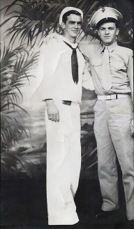 Tackett and a Navy friend, possibly a corpsman.
