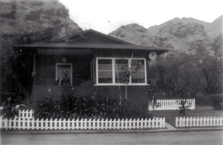 """Cobbler Inn"" - the guard post at Waianae Gate, Lualualei depot. 1945."