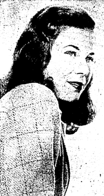 Shirley Gillette of LaFargeville, NY, studied at Mary Washington College and St. Lawrence University. Photo from the Syracuse Herald-American, November 1, 1942.