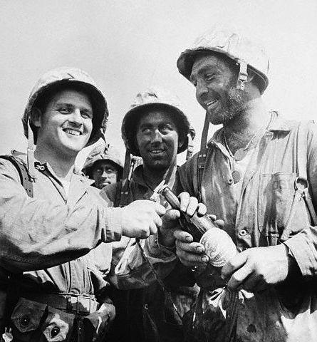 Steve Opalenik, Marine sergeant (at right)