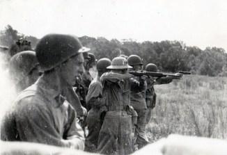 Training on the firing range.