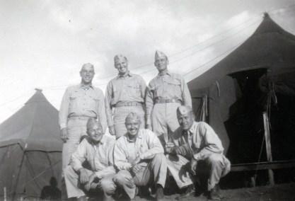 """39. All Co. B officers. Me, Moody, Schneider, Rill, Duensing & Miller"""