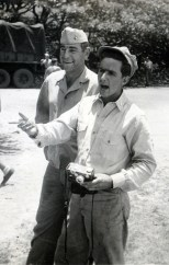 """""""Gum-beating Lewis and myself. Company Party May 10 1945"""""""