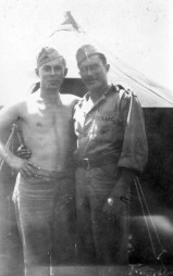 Billy Skeens and Bob Sherrill at Camp Maui. Skeens lost his life on Saipan; a memory that would stay with John Pope for the rest of his life.