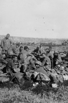 This many Marines grouped together, and their relaxed posture, suggests a surprising degree of quiet.