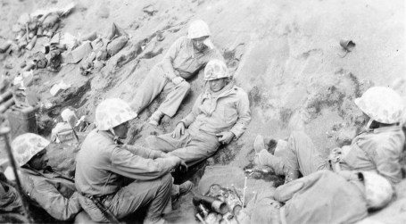 A quiet moment in the bloodiest battle in Marine Corps history.