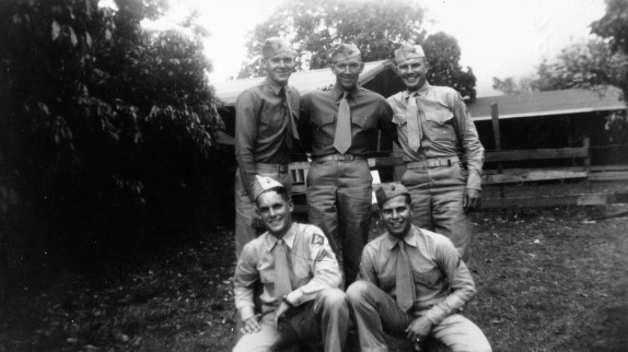One of Pope's oldest friends, Corporal Wally Duncan, and his squad in Hawaii.
