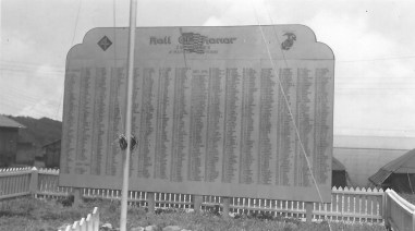 The Roll of Honor at Camp Maui recorded the names of every Fourth Division marine who lost his life in the war.