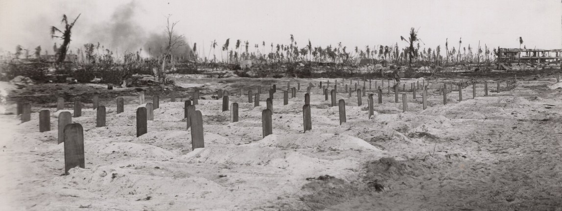 The cemetery nears completion.