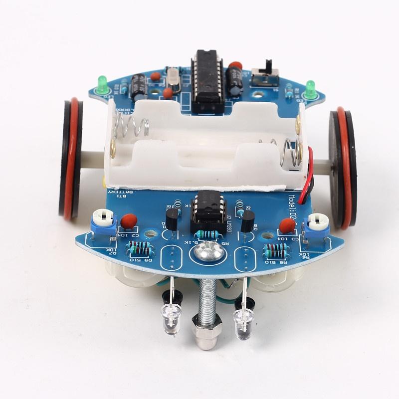 D2-2 DIY Kit Intelligent Tracking Line Smart Car Suite Kit AT89C2051 51 MCU Electronic Production Smart Patrol Automobile Parts