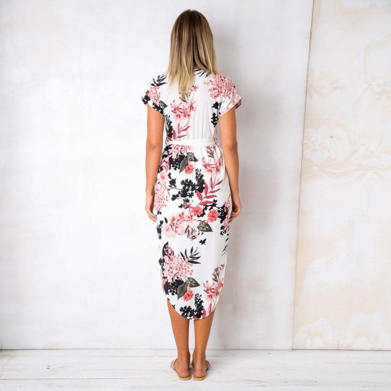 Women's V-Neck Floral Printed Dress