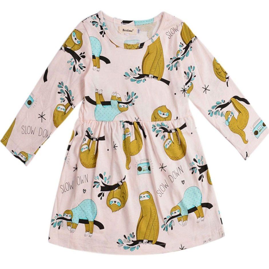 Spring Flower Girl's Long Sleeved Ruffled Dress