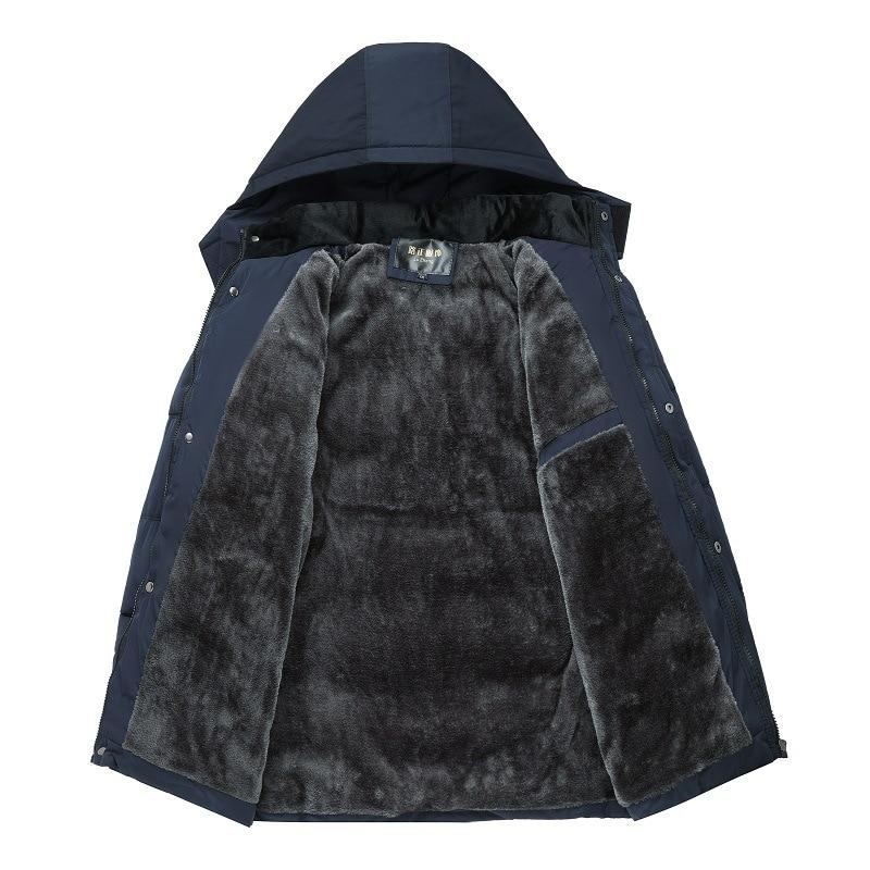 Fashion Winter Padded Fleece Men's Parka Jacket