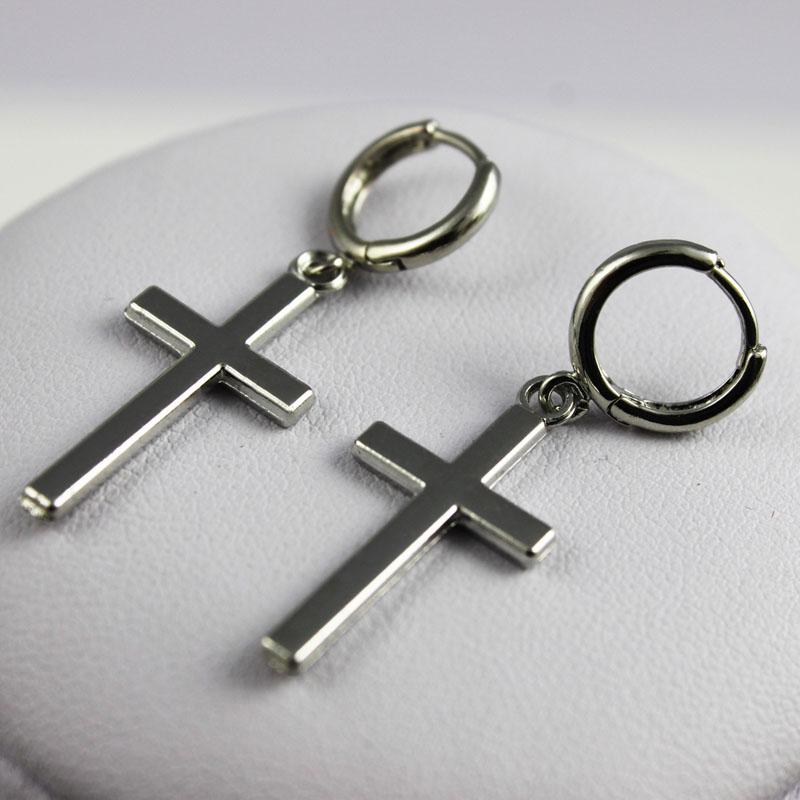 Men's Fashion Cross Shaped Earrings