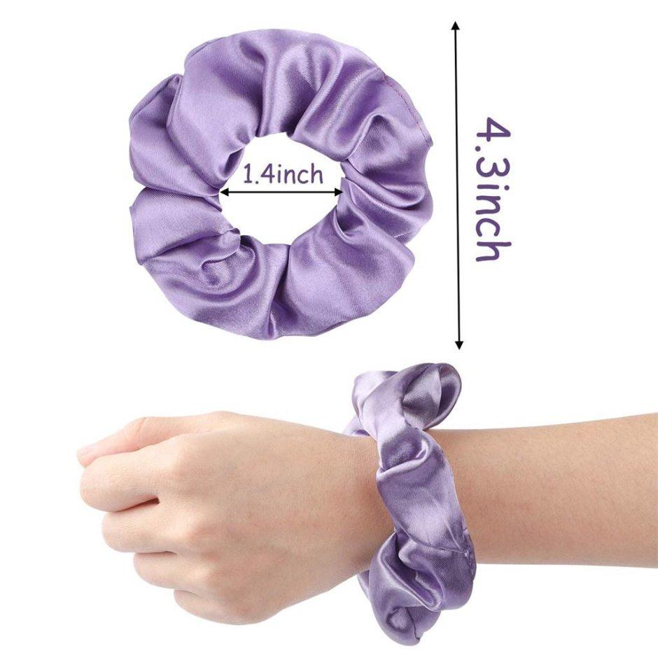 60 Pcs Hair Scrunchies Silk Satin Hair Band Suitable For Women's Ponytail Hair Accessories Headwear Dropshipping d1