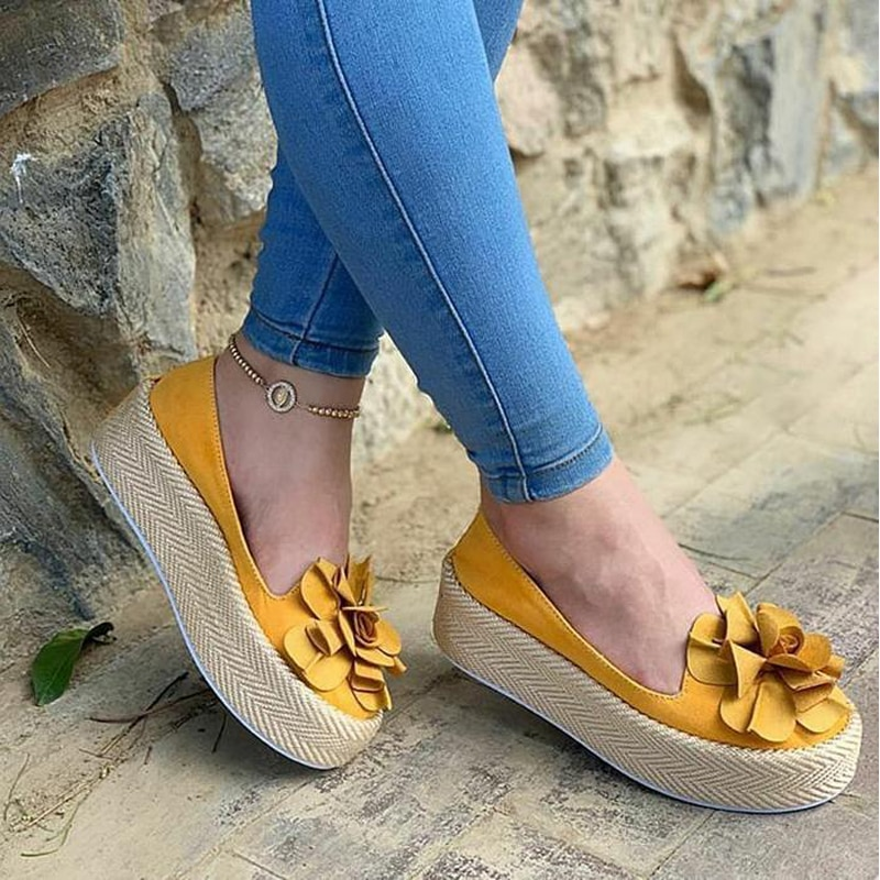 HEFLASHOR Floral Flats Women Shoes Casual Shoes Woman Platform Sneakers Slip On Leather Suede Ladies Loafers zapatos de mujer