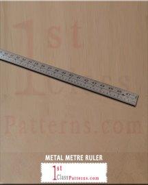 METAL METRE RULER