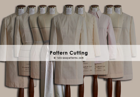 digital block patterns: bodice, skirt, trousers, shirt, jacket, coat, dress