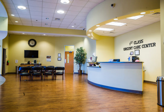 1stclass Urgent Care Allen Office lobby
