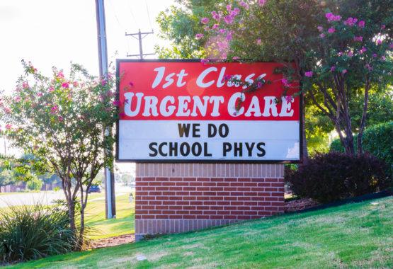 1stclass Urgent Care Allen Office sign