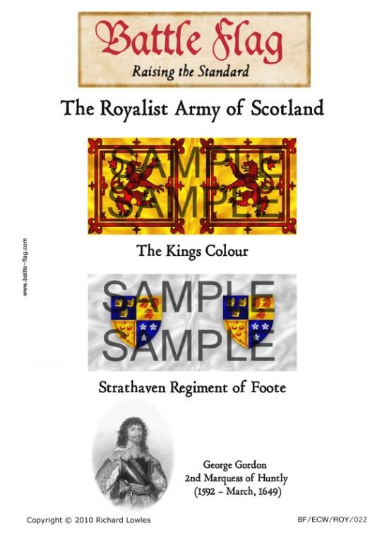 The Kings Colour Colonel William Gordon's Minimore Regt of Fo