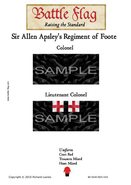 ECWROY009 (A) Sir Allen Apsley's Regiment of Foote