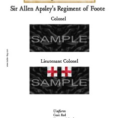 ECWROY009 (A) Sir Allen Apsley's Regiment of Foote