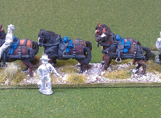 Limber and horse team (slouch at rest)