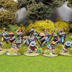 28mm american civil war casualties wearing slouch hat